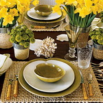 Formal Yellow Table Setting