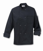 Man's Black Chefs Coat