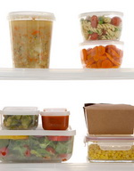 Plastic Food Storage of Leftovers