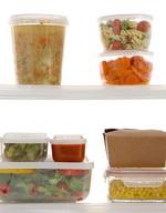 Plastic Food Storage of Leftovers