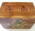 Hand Painted Recipe Box