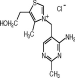 Thiamine Chemical Formula