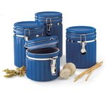 Blue Ceramic Canisters